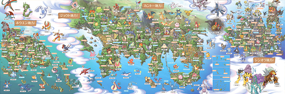 Amazing Map Of The Pokemon World Images - Printable Map - New ...