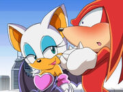 Rouge the bat making knuckles blush XD