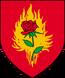 Blason de l'Ordre de la Rose-Ardente du temps de Jacques