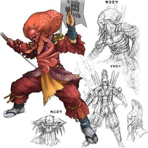 File:Soul calibur III - Yoshimitsu second costume artwork.jpg