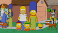 Simpson family in South Park style