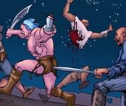 Theokoles kills the pirates