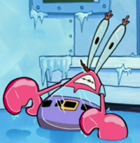 Frozen Mr. Krabs