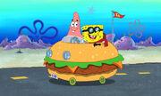 Patrick & Spongebob In The Patty Wagon