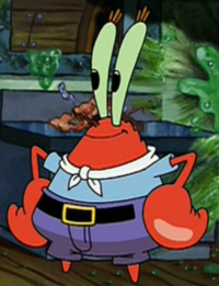 Mr. Krabs as a Chef