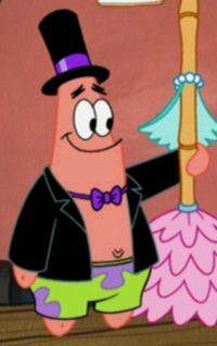 Patrick Wearing Fancy Clothes