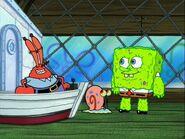 Mr. Krabs, Gary, & Spongebob With The Ick On Him