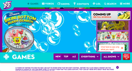 The Ultimate Bikini Bottom Buddy Search game on YTV website