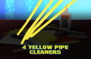 4 Yellow Pipe Cleaners