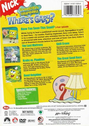 Where's Gary DVD Back Cover