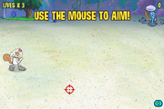 Robot Ruckus use the mouse to aim