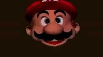 Mario Head Flying