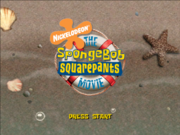 SpongeBob Movie Game Title Screen