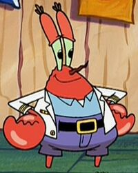 Mr. Krabs Wearing His Naval Jacket