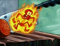 Squidward on Fire