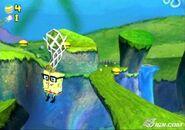 3d Spongebob Wearing His Safty Glasses & holding 1 Jellyfishing Net
