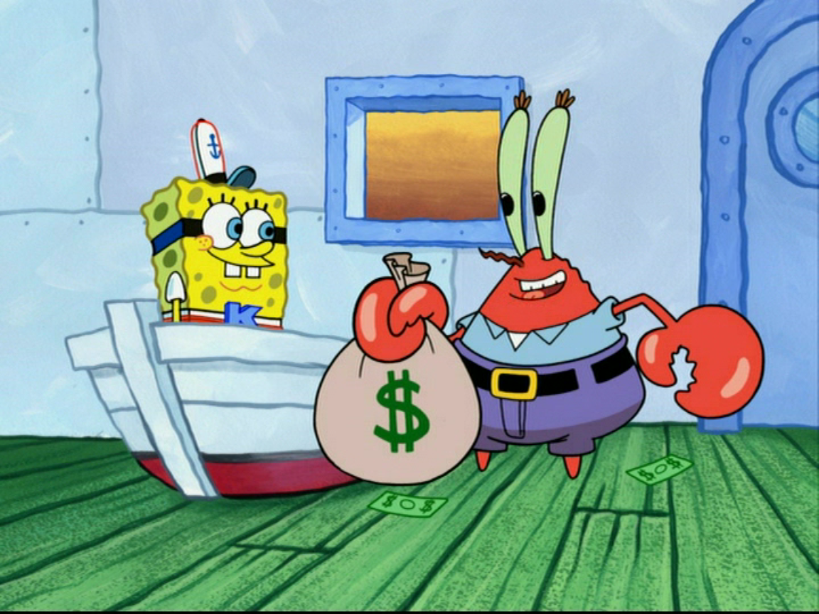 image mr krabs and spongebob png encyclopedia spongebobia