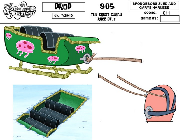 File:SpongeBobs Sled and Garys Harness.png