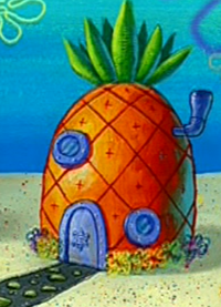 SpongeBob's pineapple house in Season 3-1