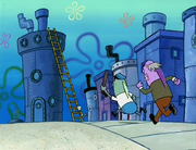 Chasing Squidward To Get Arrest