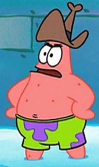 Patrick Wearing a Cowboy Hat