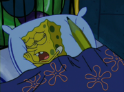 SpongeBob sleeping with magic pencil(2)