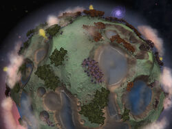 Craters storybook planet