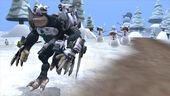 Captain running away from snowman