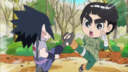 Sasuke clash with Lee