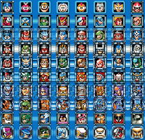 Megaman 8 bit bosses 1-10 no names
