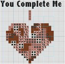 You Complete Me Tetris Heart One