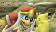 King Dedede Congratulations Screen Classic Mode Brawl