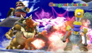 Bowser Congratulations Screen All-Star Brawl