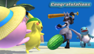 Lucario Congratulations Screen All-Star Brawl