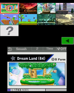 Stage Select SSB3DS Extra