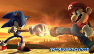 Sonic Congratulations Screen Classic Mode Brawl