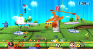 SSB4 Yoshi's Woolly World Stage