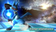 Lucario Congratulations Screen Classic Mode Brawl