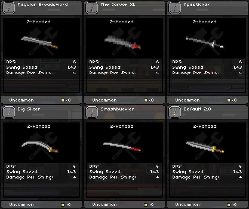Weapon 1, Iron 2-Handed Swords