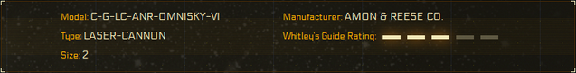 File:Whitley's Guide Rating - Amon and Reese Omnisky IV Laser Cannon.png