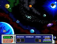 Map Of The Lylat System (Star Fox 2).