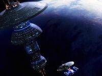 Enterprise-D approaches starbase