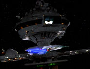Enterprise-D orbits Starbase 173