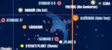Betreka Nebula vicinity
