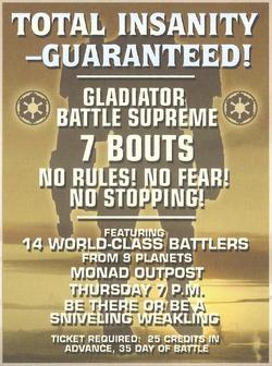 Gladiator Night poster