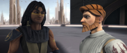 Vos and Obi-Wan on Coruscant