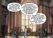 Leia addresses Queen Soruna