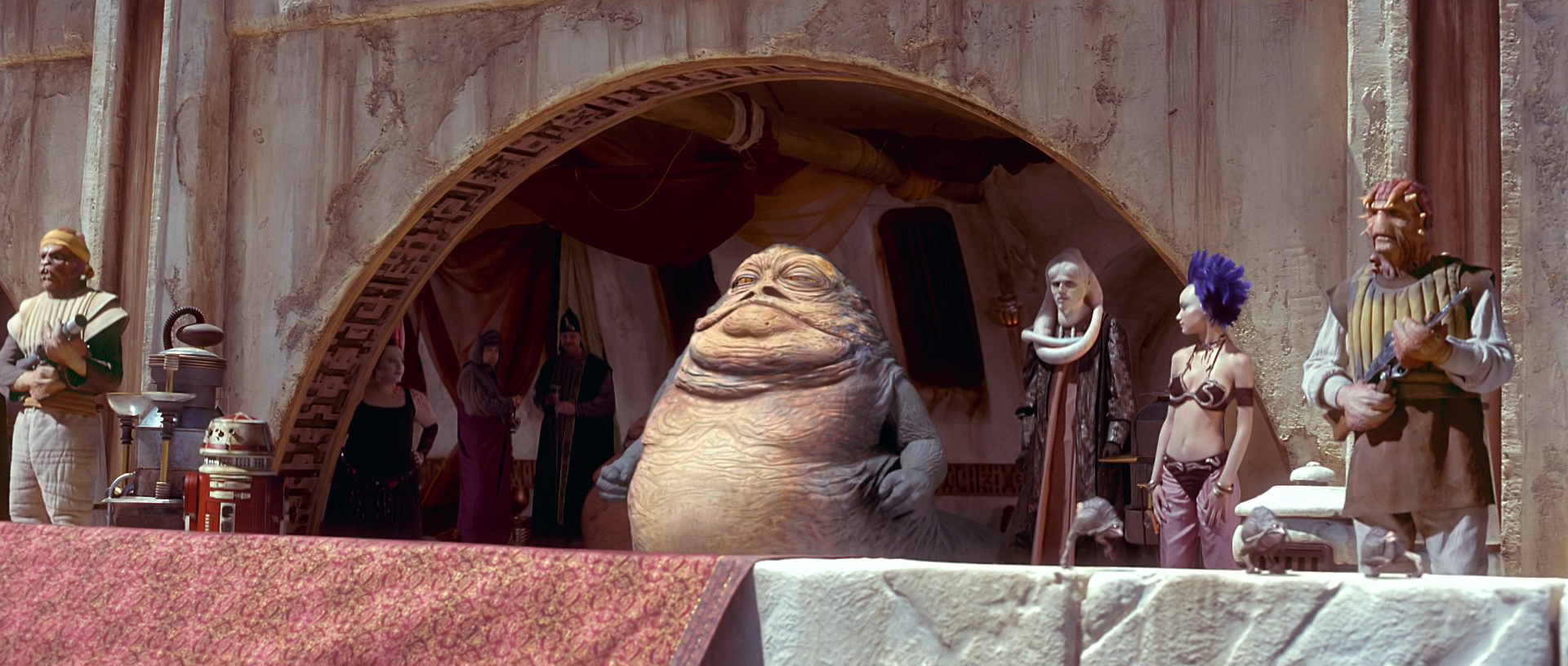 Jabba's private box | Wookieepedia | FANDOM powered by Wikia Jabba The Hutt And Oola
