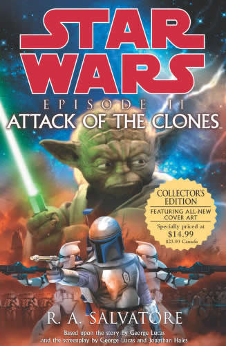 ATTACK OF THE CLONES novel cover - Yoda