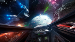 Dogfight in the Wobani system-X-wing VR Mission.png